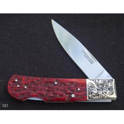 Frank Centofante Lock Back Folder with Engraved Bolsters