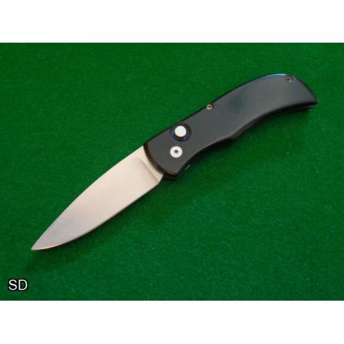 Old c.1990's Custom Automatic Black Micarta® Nice Grind